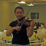 Morning before the violin concert